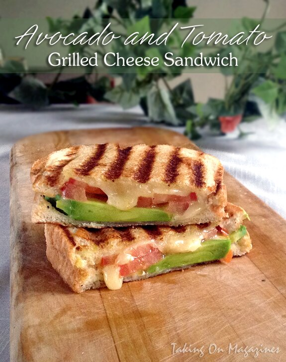 Avocado and Tomato Grilled Cheese Sandwich