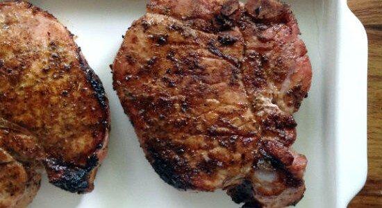 Bourbon-and-Vanilla-Brined Pork Chops