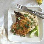 Turmeric Pork Chops with Green Onion Rice